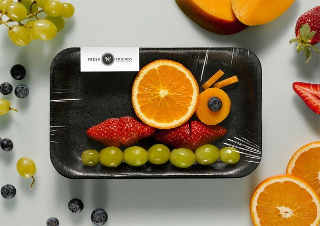 Caracol Hecho con Frutas