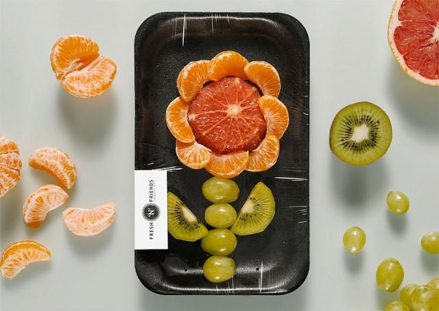 Flor Hecha con Frutas