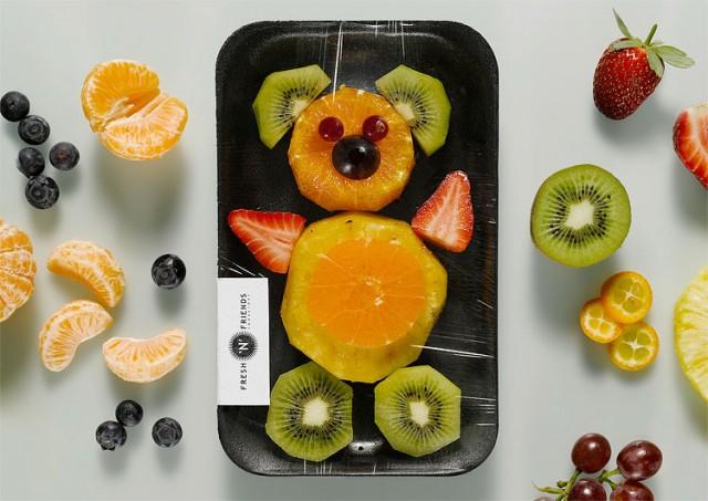Oso Echo con Frutas