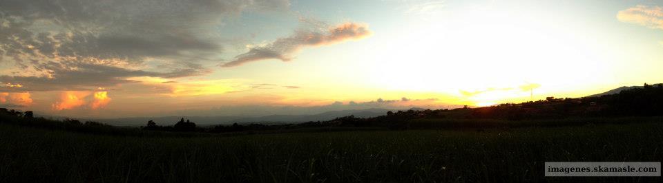 Atardecer Foto Panoramica
