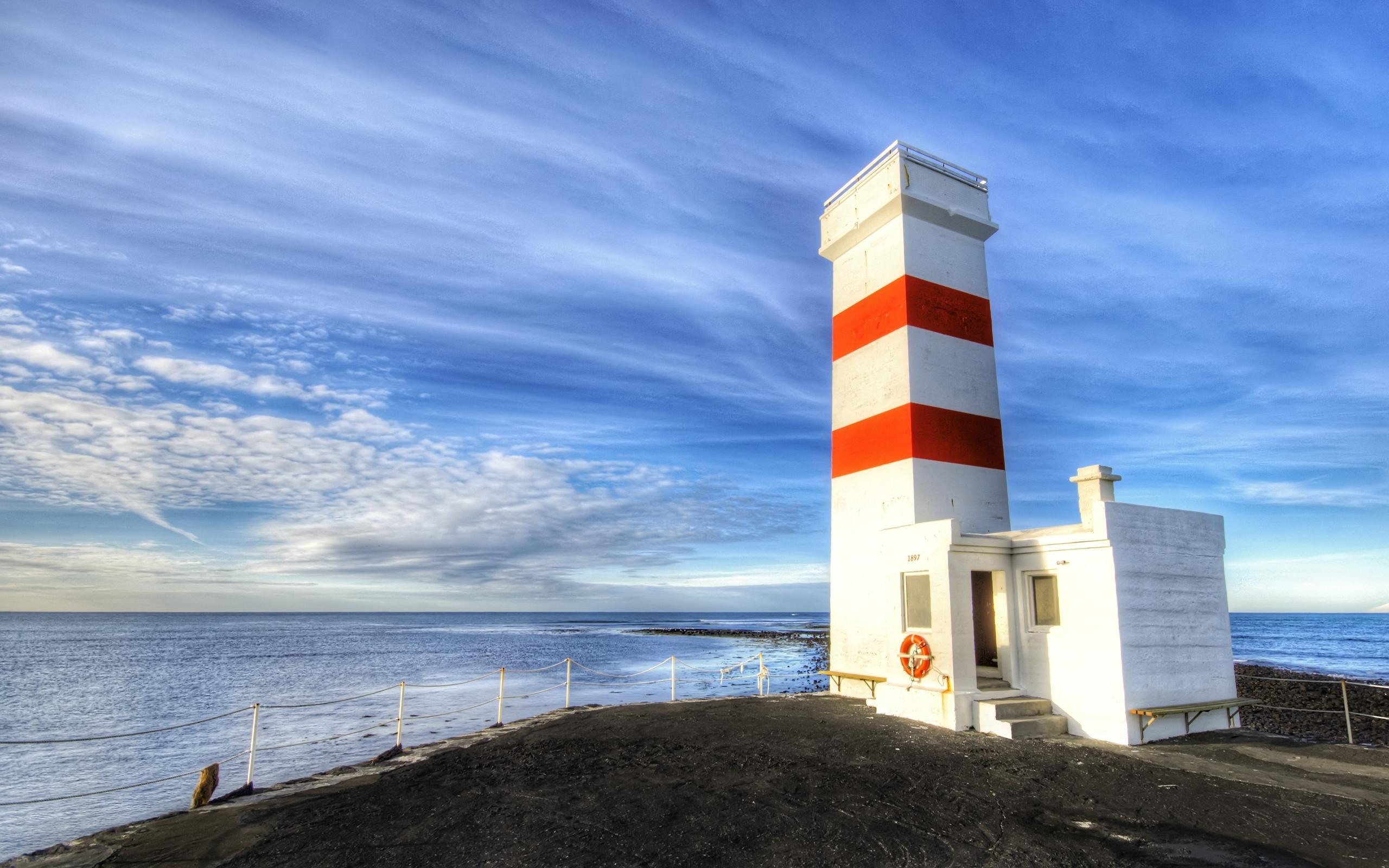 Foto Oceano y Faro Calidad Alta