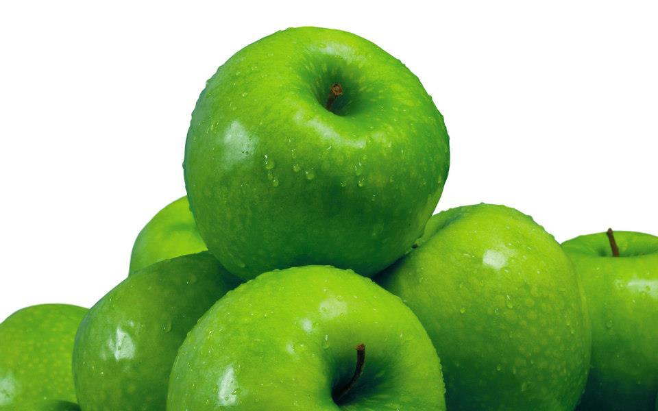 Fotos Manzanas Verdes con gotas