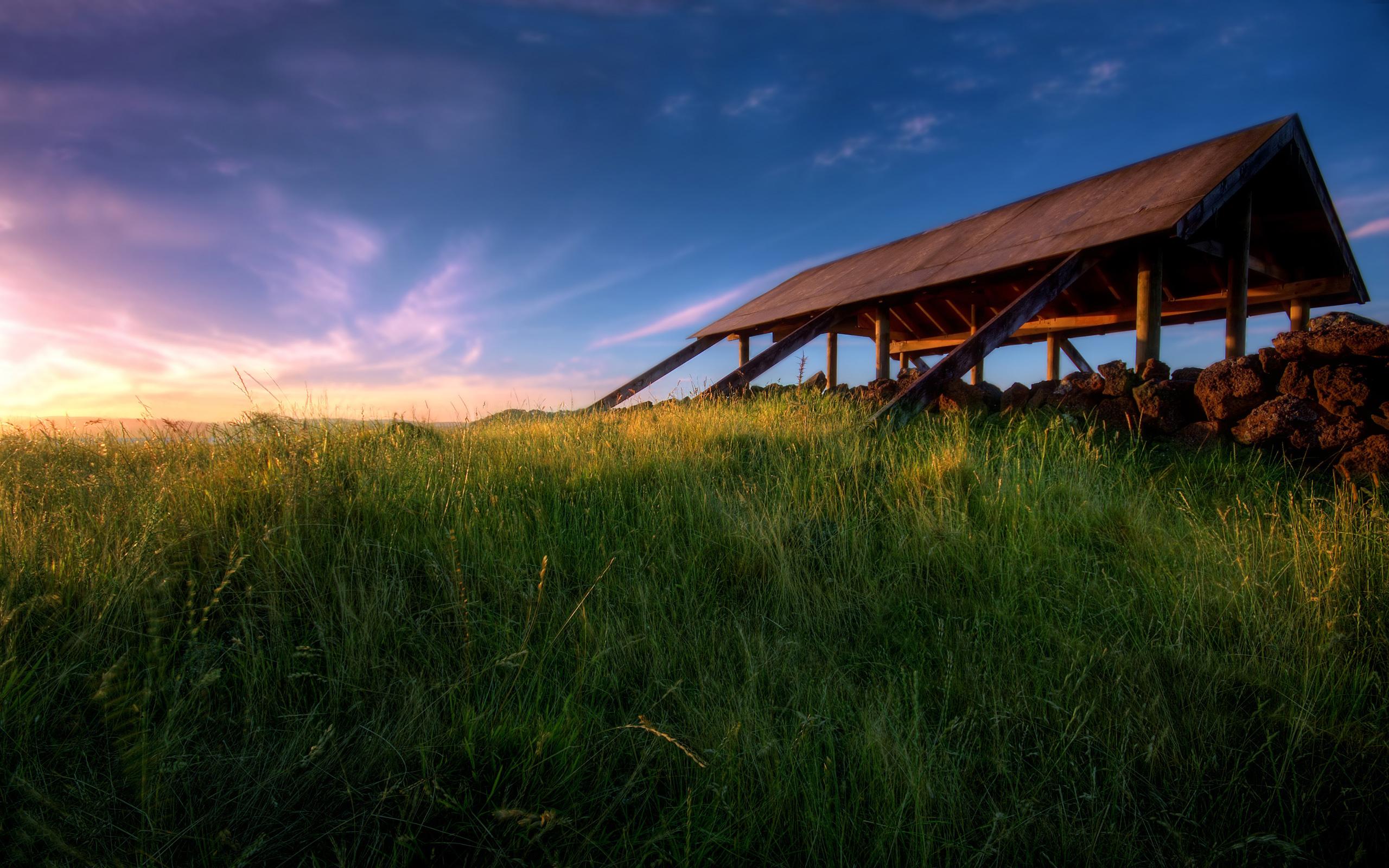 Foto Atardecer en el prado
