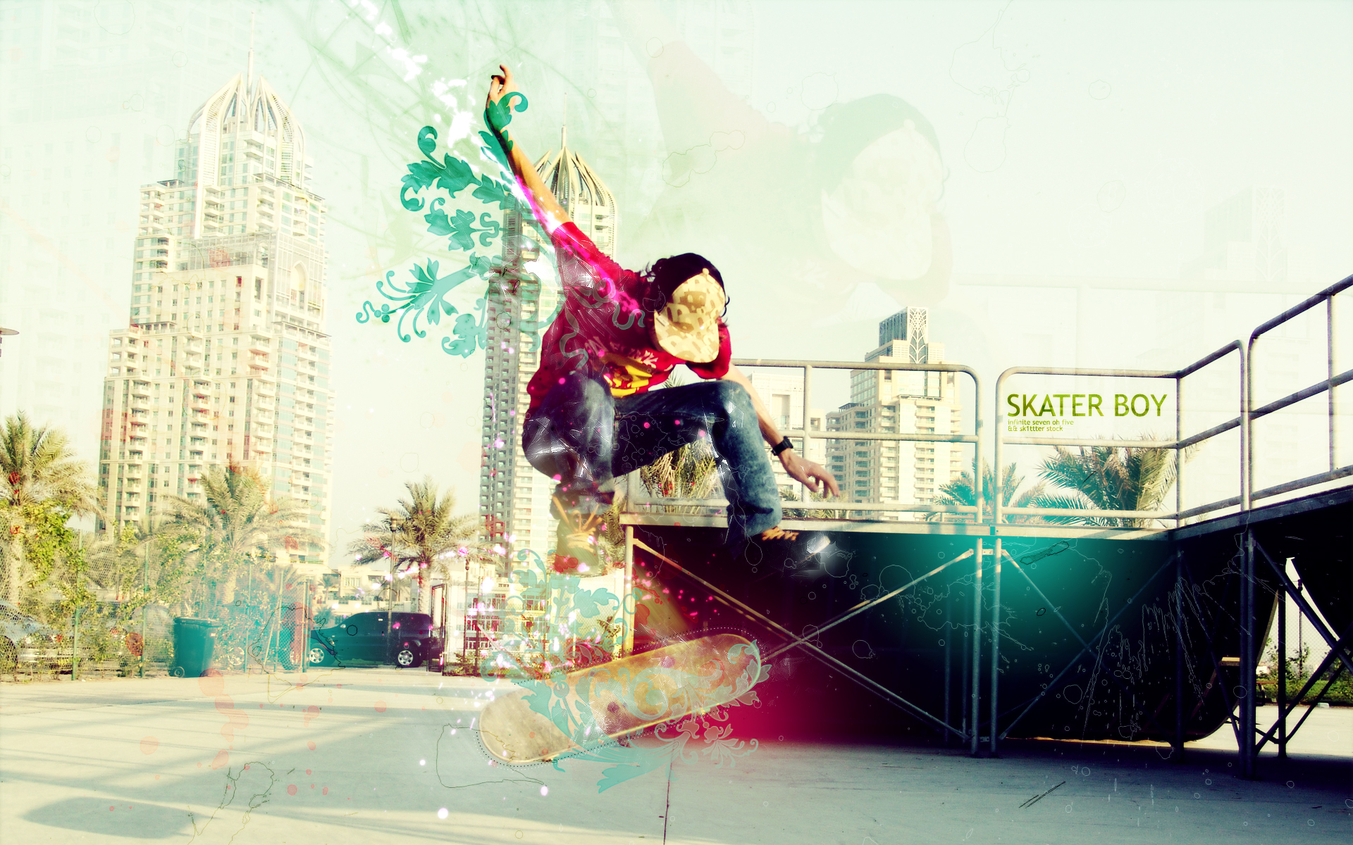 Fotomontaje Skate